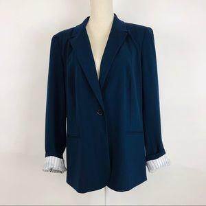 Chaus New York Blue Blazer Jacket Sz 16